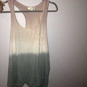 Ombrè pink white and gray tank top
